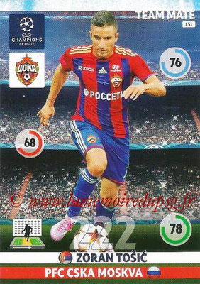 2014-15 - Adrenalyn XL champions League N° 131 - Zoran TOSIC (PFC CSKA Moscou)
