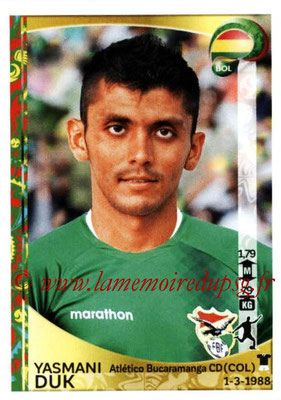 Panini Copa America Centenario USA 2016 Stickers - N° 395 - Yasmani DUK (Bolivie)