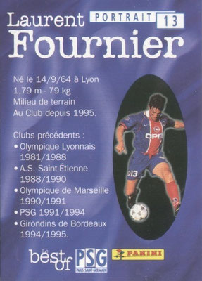 N° 013 - Laurent FOURNIER (Verso)