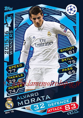 2016-17 - Topps UEFA Champions League Match Attax - N° RM16 - Alvaro MORATA (Real Madrid CF)