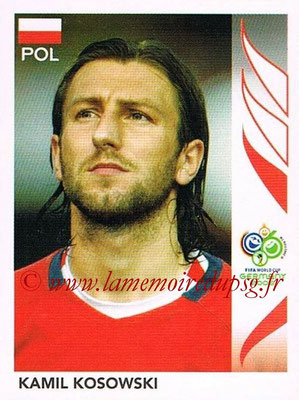 2006 - Panini FIFA World Cup Germany Stickers - N° 063 - Kamil KOSOWSKI (Pologne)