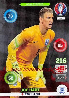 Panini Euro 2016 Cards - N° 083 - Joe HART (Angleterre) (Goal Stopper)