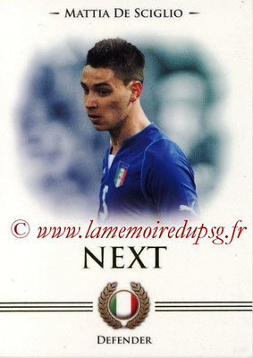 2014 - Futera World Football Unique - N° 092 - Mattia DE SCIGLIO (Defender) (Next)
