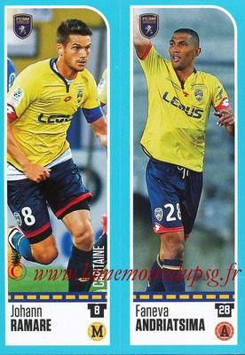 2016-17 - Panini Ligue 1 Stickers - N° 905 + 906 - Johann RAMARE + Faneva ANDRIATSIMA (Sochaux)