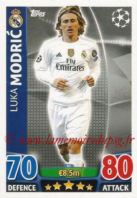2015-16 - Topps UEFA Champions League Match Attax - N° 083 - Luka MODRIC (Real Madrid CF)