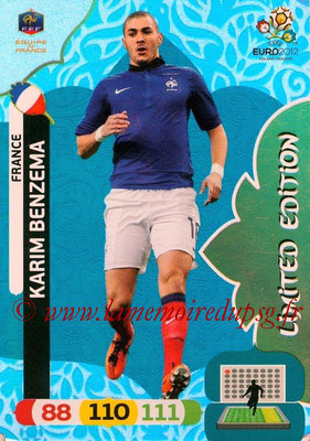 Panini Euro 2012 Cards Adrenalyn XL - N° LE26 - Karim BENZEMA (France) (Limied Edition)