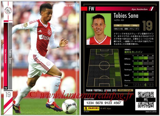 Panini Football League 2013 - PFL03 - N° 119 - Tobias Sana (Ajax Amsterdam)