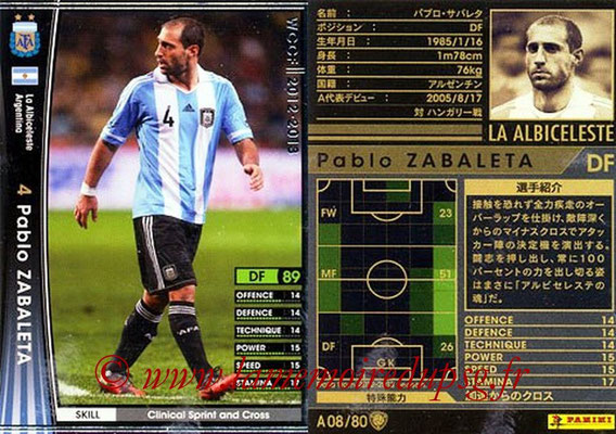 2012-13 - WCCF - N° A08 - Pablo ZABALETA (Argentine)