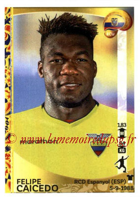 Panini Copa America Centenario USA 2016 Stickers - N° 156 - Felipe CAICEDO (Equateur)