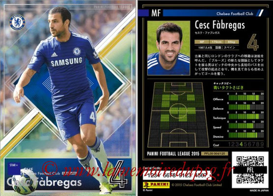 Panini Football League 2015 - PFL09 - N° 064 - Cesc FABREGAS (Chelsea FC) (Star +)