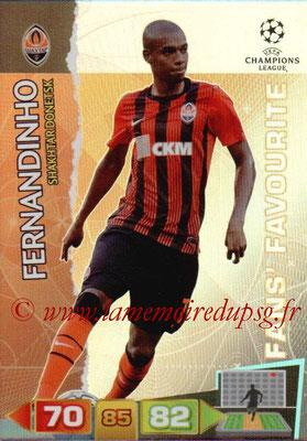 2011-12 - Panini Champions League Cards - N° 322 - FERNANDINHO (Shakhtar Donetsk) (Fans' Favourite)