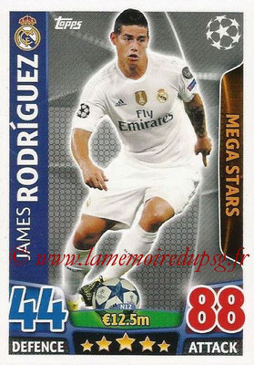 2015-16 - Topps UEFA Champions League Match Attax - N° N12 - James RODRIGUEZ (Real Madrid CF) (Mega Stars) (Nordic Edition)