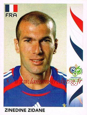2006 - Panini FIFA World Cup Germany Stickers - N° 467 - Zinedine ZIDANE (France)