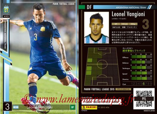 Panini Football League 2015 - PFL13 - N° 083 - Leonel VANGIONI (Argentine)
