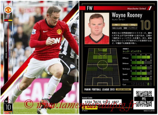 Panini Football League 2013 - PFL01 - N° 087 - Wayne Rooney ( Manchester United  )