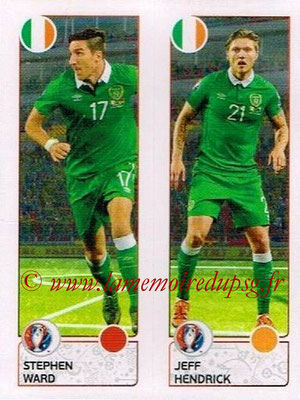 Panini Euro 2016 Stickers - N° 540 - Stephen WARD + Jeff HENDRICK (République d'Irlande)