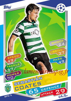 2016-17 - Topps UEFA Champions League Match Attax - N° SPO5 - Sebastian COATES (Sporting Club de Portugal)