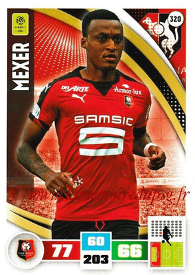 2016-17 - Panini Adrenalyn XL Ligue 1 - N° 320 - MEXER (Rennes)