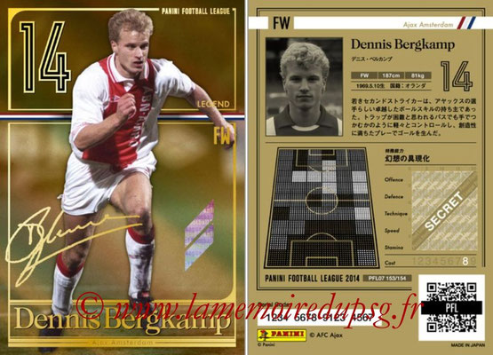 Panini Football League 2014 - PFL07 - N° 153 - Dennis BERGKAMP (Ajax) (Legend)