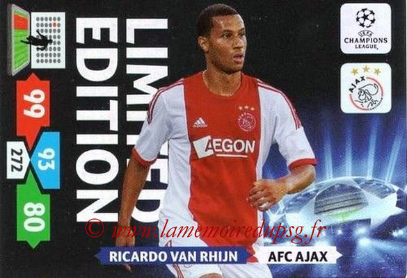 2013-14 - Adrenalyn XL champions League N° LE01 - Ricardo VAN RHIJN (AFC Ajax) (Limited Edition)