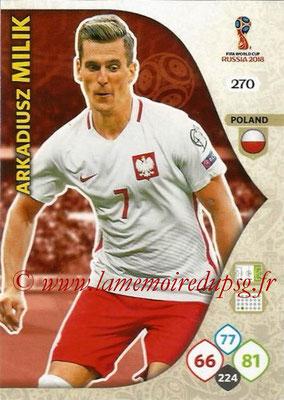2018 - Panini FIFA World Cup Russia Adrenalyn XL - N° 270 - Arkadiusz MILIK (Pologne)