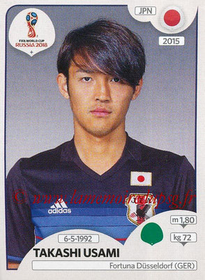 2018 - Panini FIFA World Cup Russia Stickers - N° 667 - Takashi USAMI (Japon)