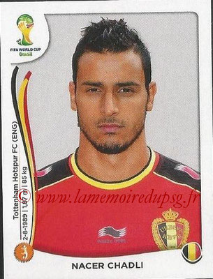 2014 - Panini FIFA World Cup Brazil Stickers - N° 577 - Nacer CHADLI (Belgique)