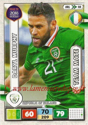 2018 - Panini Road to FIFA World Cup Russia Adrenalyn XL - N° IRL18 - Daryl MURPHY (République d'Irlande) (UK Version)