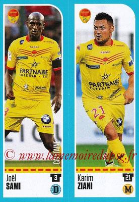 2016-17 - Panini Ligue 1 Stickers - N° 893 + 894 - Joël SAMI + Karim ZIANI (Orléans)