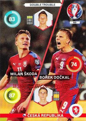 Panini Euro 2016 Cards - N° 060 - Milan SKODA + Borek DOCKAL (République Tchèque) (Double Trouble)