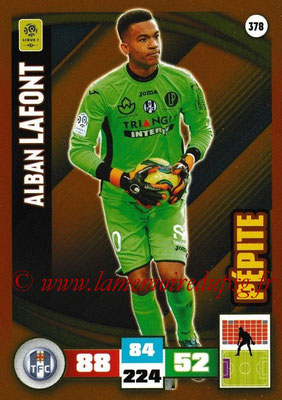 2016-17 - Panini Adrenalyn XL Ligue 1 - N° 378 - Alban LAFONT (Toulouse) (Pepite)