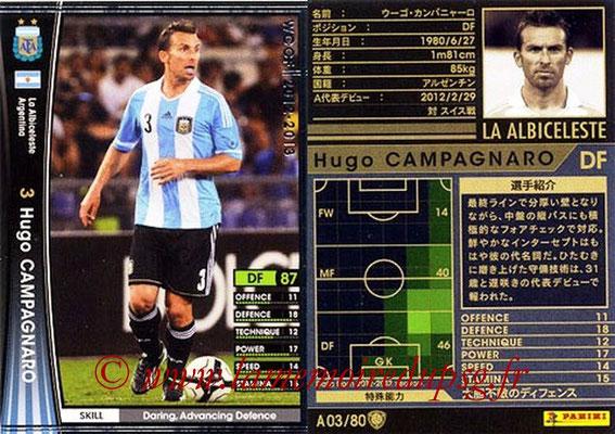 2012-13 - WCCF - N° A03 - Hugo CAMPAGNARO (Argentine)