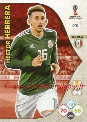 2018 - Panini FIFA World Cup Russia Adrenalyn XL - N° 231 - Hector HERRERA (Mexique)