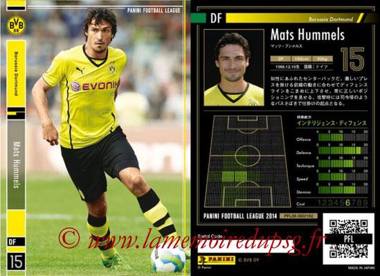 Panini Football League 2014 - PFL06 - N° 093 - Mats HUMMELS (Borussia Dortmund)