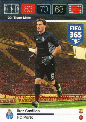 2015-16 - Panini Adrenalyn XL FIFA 365 - N° 122 - Iker CASILLAS (FC Porto) (Team Mate)