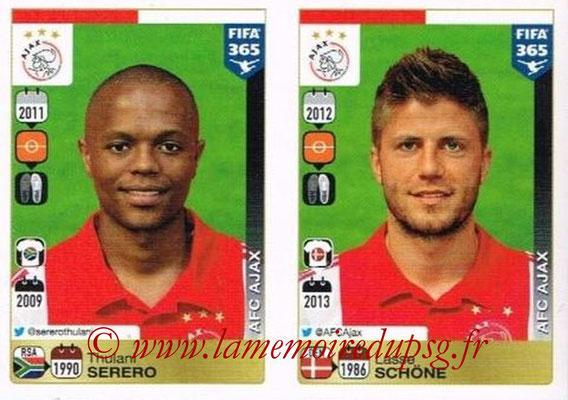 2015-16 - Panini FIFA 365 Stickers - N° 652-656 - Thulani SERERO+ Lasse SCHONE (AFC Ajax)