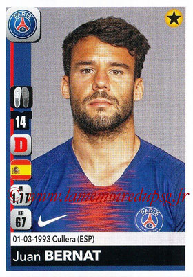 2018-19 - Panini Ligue 1 Stickers - N° 355 - Juan BERNAT (Paris Saint-Germain)