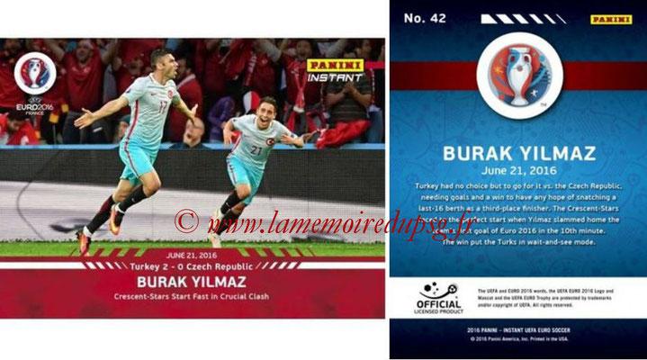 Panini Instant Euro 2016 - N° 042 - Burak YILMAZ
