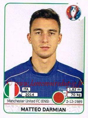 Panini Euro 2016 Stickers - N° 501 - Matteo DARMIAN (Italie)