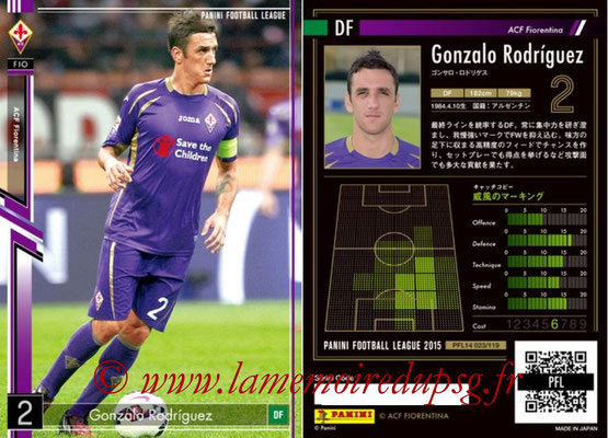 Panini Football League 2015 - PFL14 - N° 023 - Gonzalo RODRIGUEZ (ACF Fiorentina)