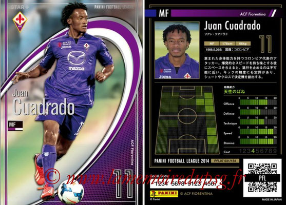 Panini Football League 2014 - PFL07 - N° 031 - Juan CUADRADO (ACF Fiorentina) (Star +)