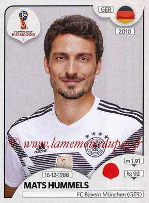2018 - Panini FIFA World Cup Russia Stickers - N° 435 - Mats HUMMELS (Allemagne)