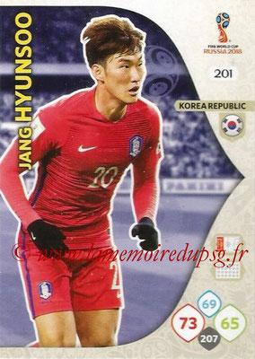 2018 - Panini FIFA World Cup Russia Adrenalyn XL - N° 201 - Jang HYUN-SOO (Corée du Sud)