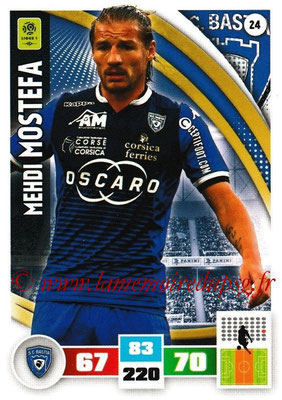 2016-17 - Panini Adrenalyn XL Ligue 1 - N° 024 - Mehdi MOSTEFA (Bastia)