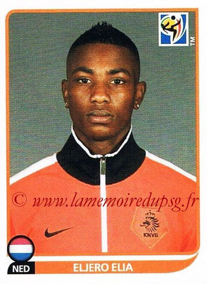2010 - Panini FIFA World Cup South Africa Stickers - N° 349 - Eljero ELIA (Pays Bas)