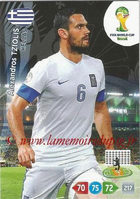 2014 - Panini FIFA World Cup Brazil Adrenalyn XL - N° 183 - Alexandros TZIOLIS (Grèce)