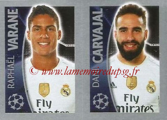 2015-16 - Topps UEFA Champions League Stickers - N° 045 - Raphael VARANE + Dani CARVAJAL (Real Madrid CF)