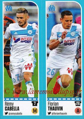 2016-17 - Panini Ligue 1 Stickers - N° 394 + 395 - Rémy CABELLA + Florian THAUVIN (Marseille)