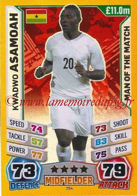 Topps Match Attax England 2014 - N° 254 - Kwadwo ASAMOAH (Ghana) (Man Of The Match)