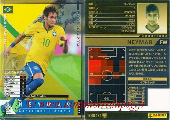 2013-14 - WCCF - N° BRS4 - NEYMAR (Bresil) (Brazilian Superstars)